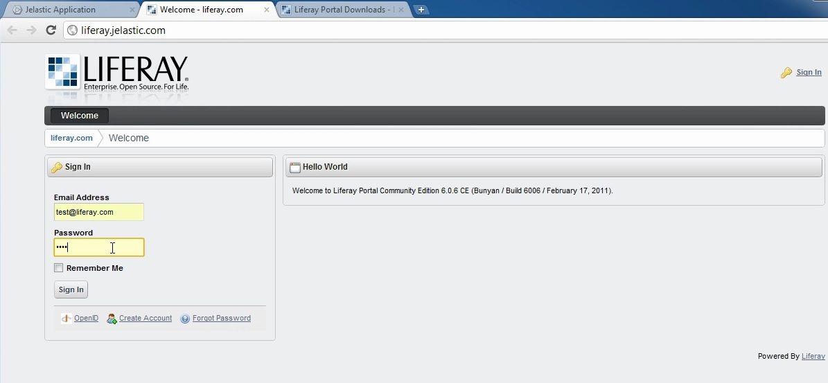 How to deploy Liferay Portal to Jelastic cloud