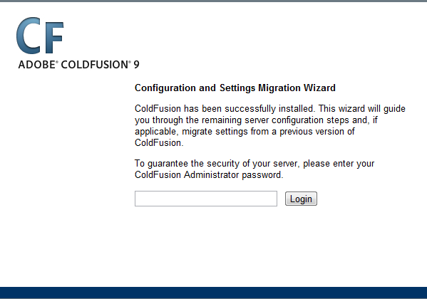 install adobe coldfusion