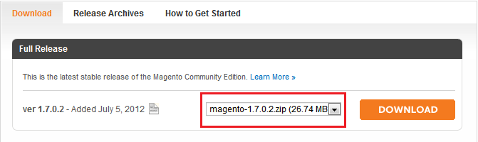 magento e-commerce platform download
