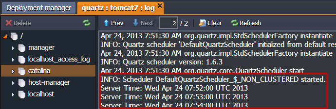 Job Scheduling Using Quartz