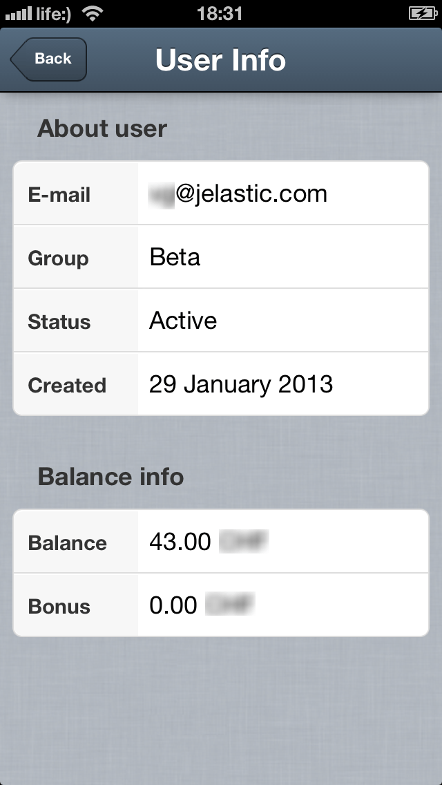 Jelastic-Mobile-App-User-info