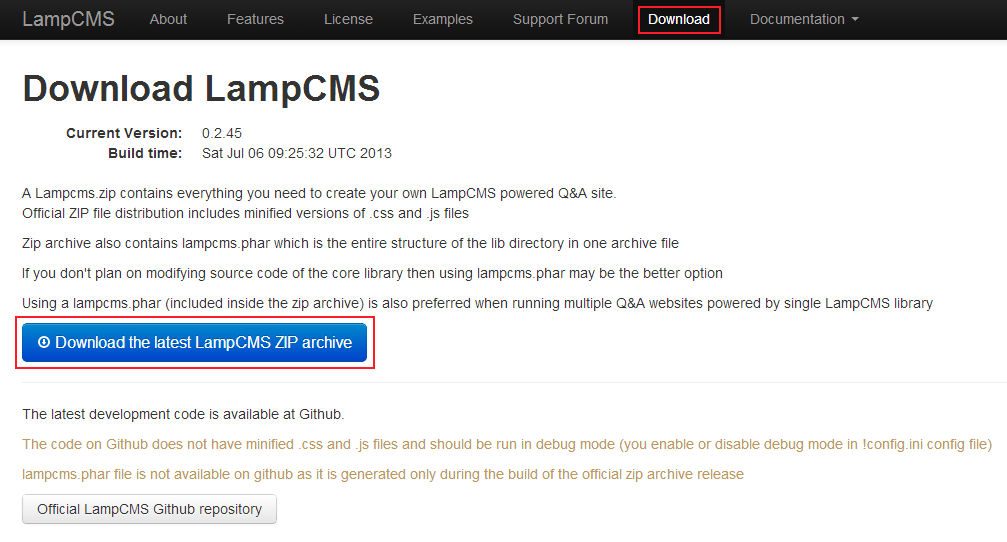 LampCMS Download