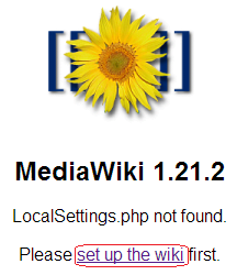 start MediaWiki installation