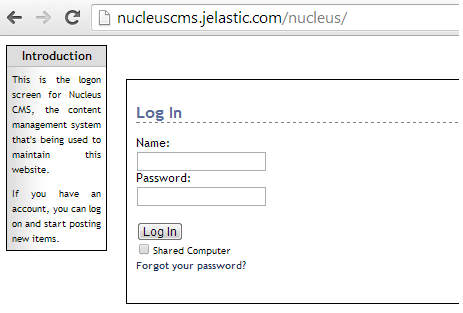 access to cms admin area