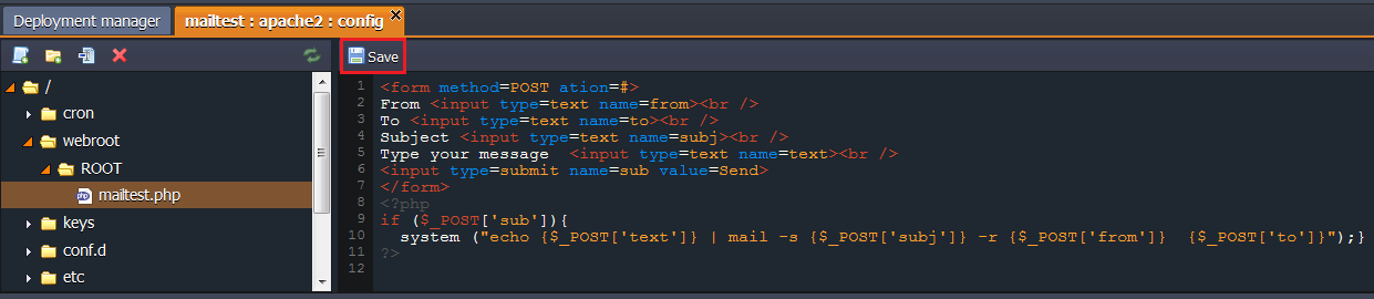 mailtest php code