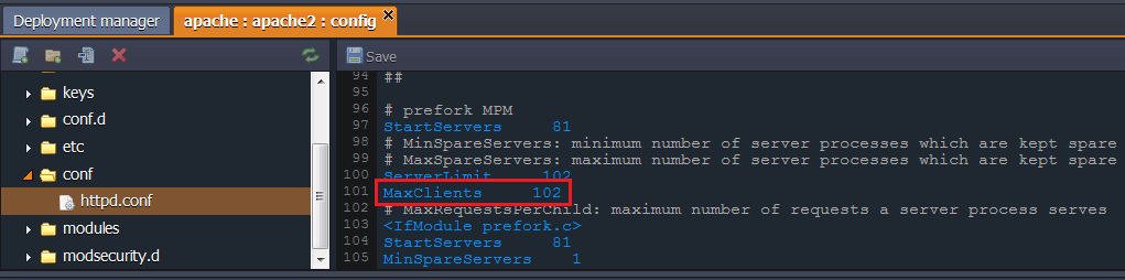 changed maxclient