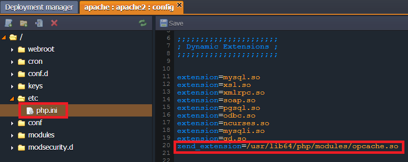 opcache extension