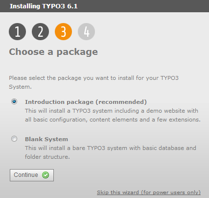 choose typo package