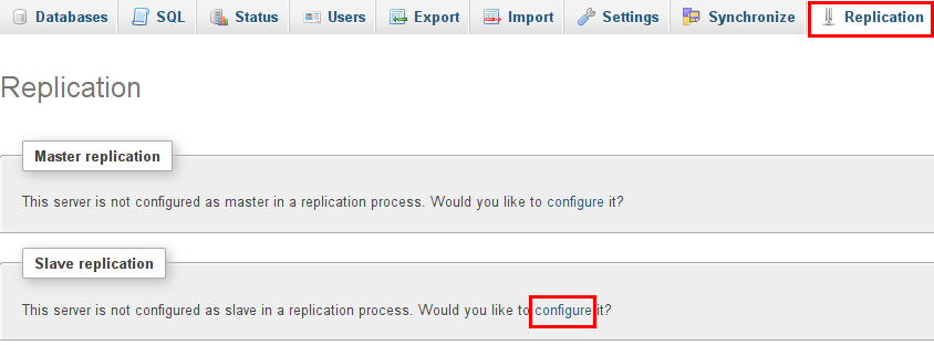 configure replication