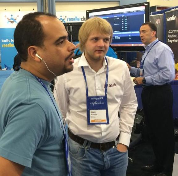 Alexey from Jelastic at HostingCon