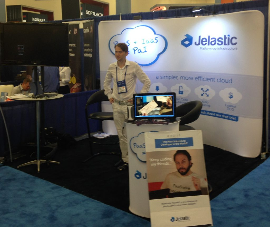 Igor at Jelastic's Booth
