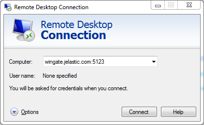 windows rd connection