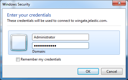 rdp credentials