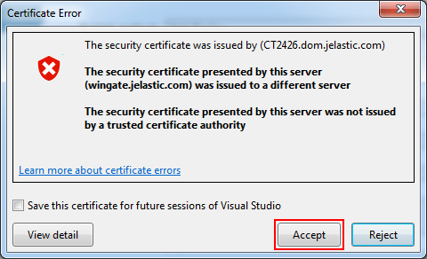 validate connection dotnet