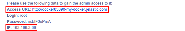Access to Docker in Jelastic