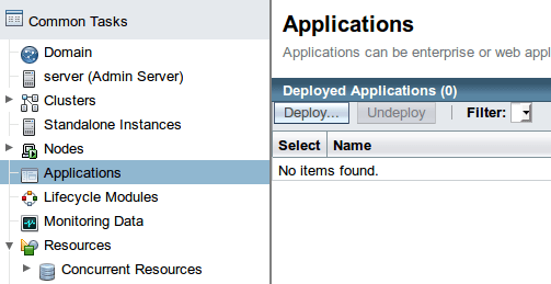 Deploy application