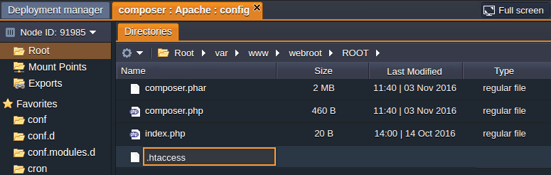 php composer apache