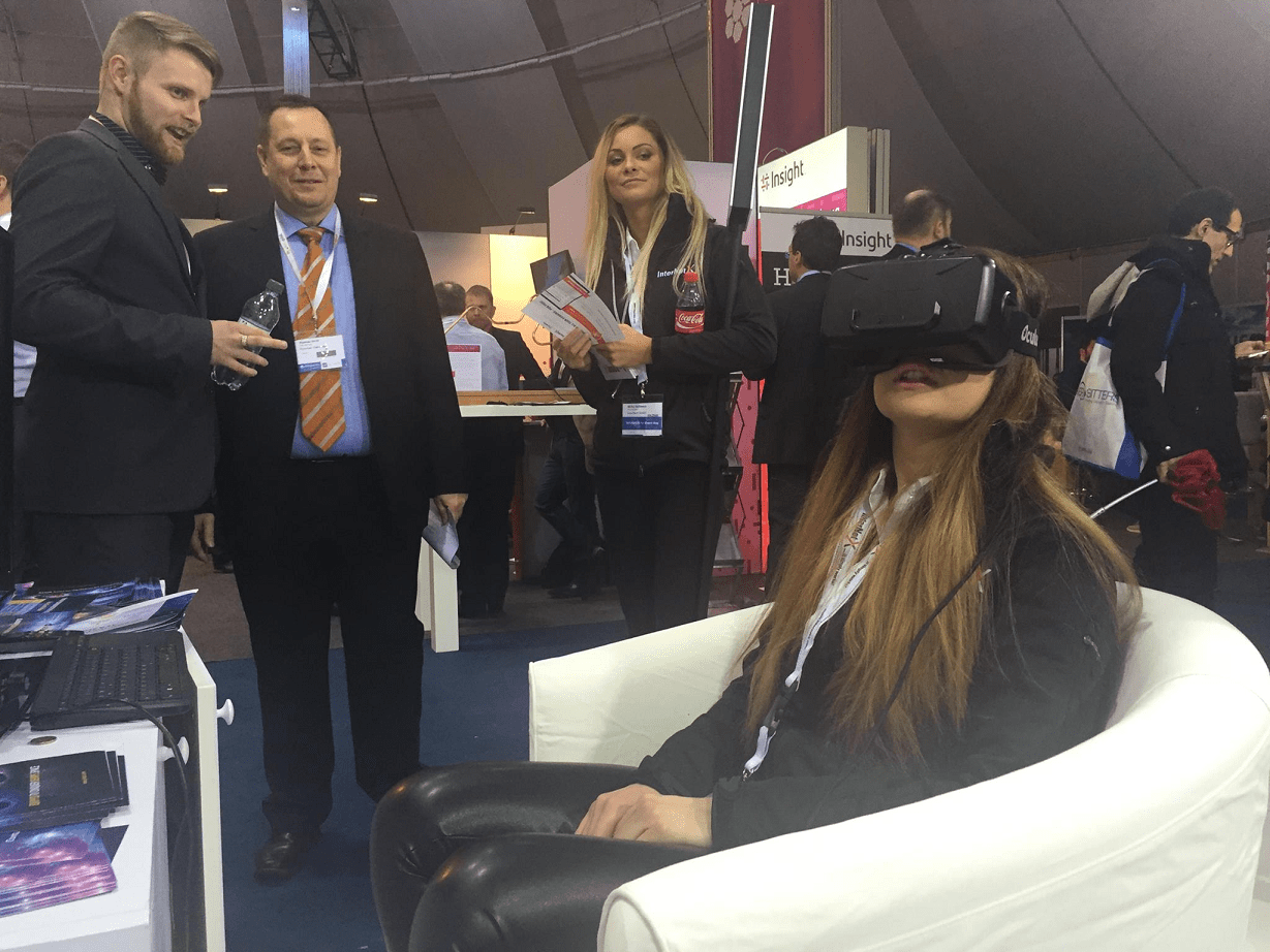 Virtual Reality glasses at Jelastic booth