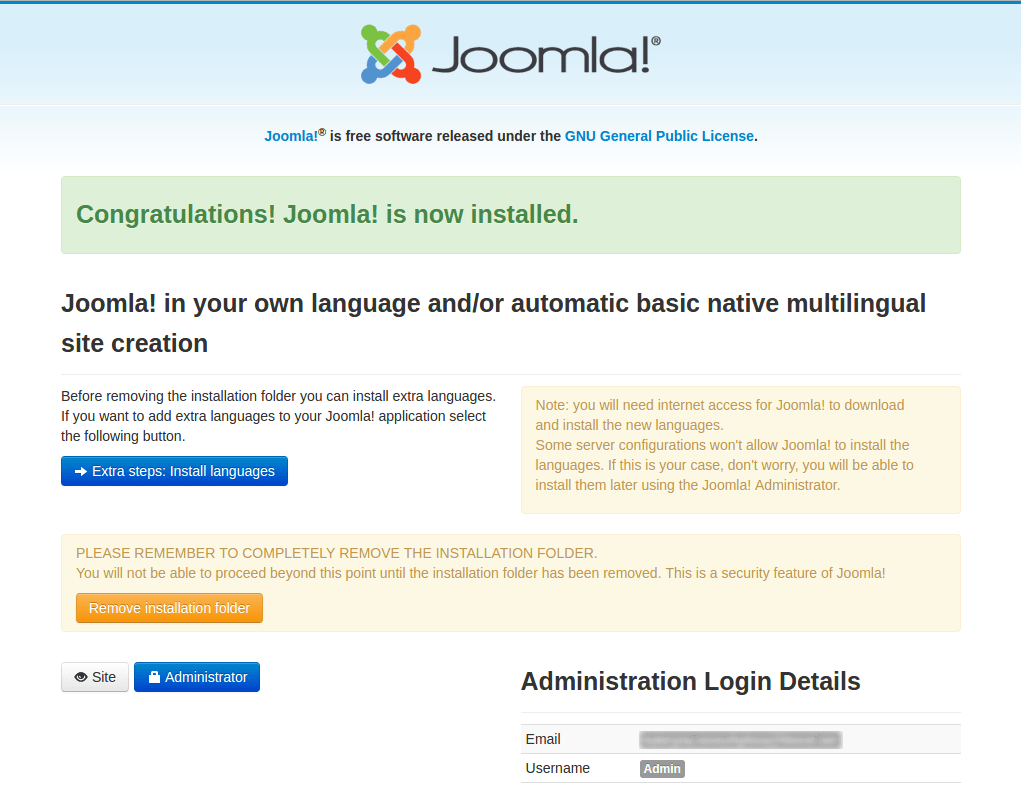 deploy joomla application