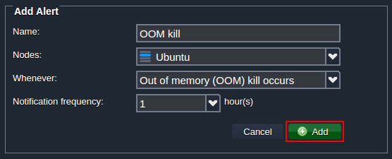 out-of-memory killer alert