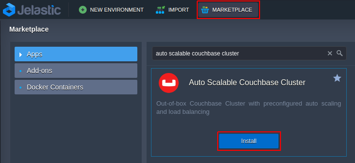 couchbase docker container