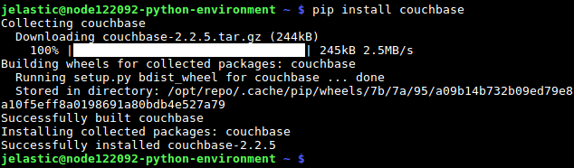 python connect to couchbase