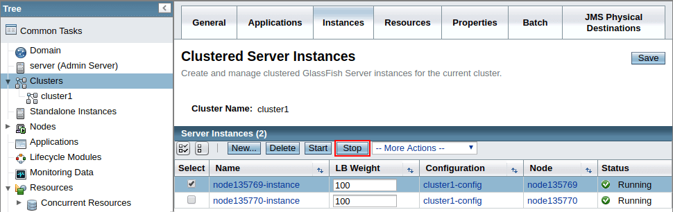 glassfish administration console