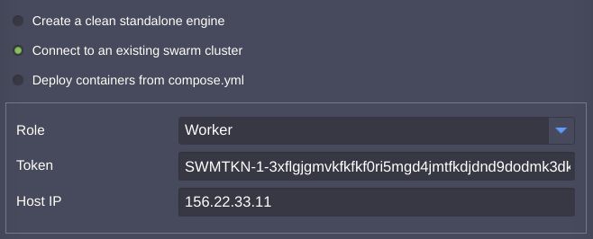 сonnect to existing swarm cluster
