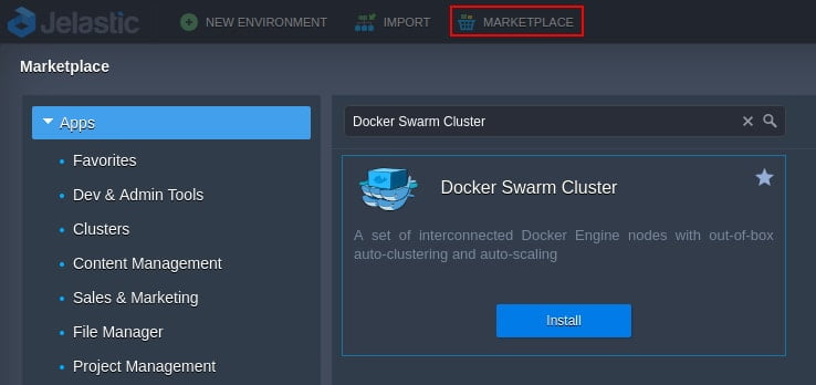 swarm cluster in one click