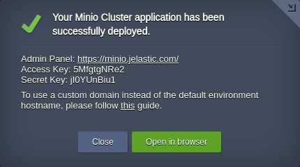 Minio Cluster: S3 Compatible Object Storage with Jelastic PaaS