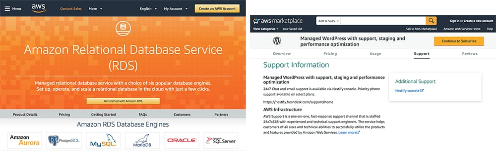 managed databases or wordpress cluster