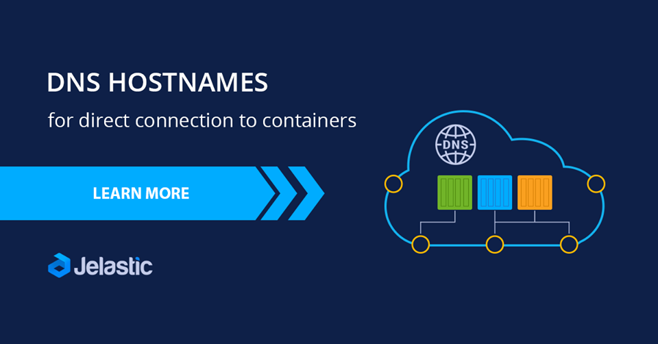 container dns connection