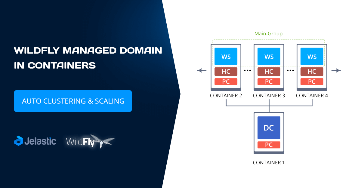 wildfly managed domain in containers
