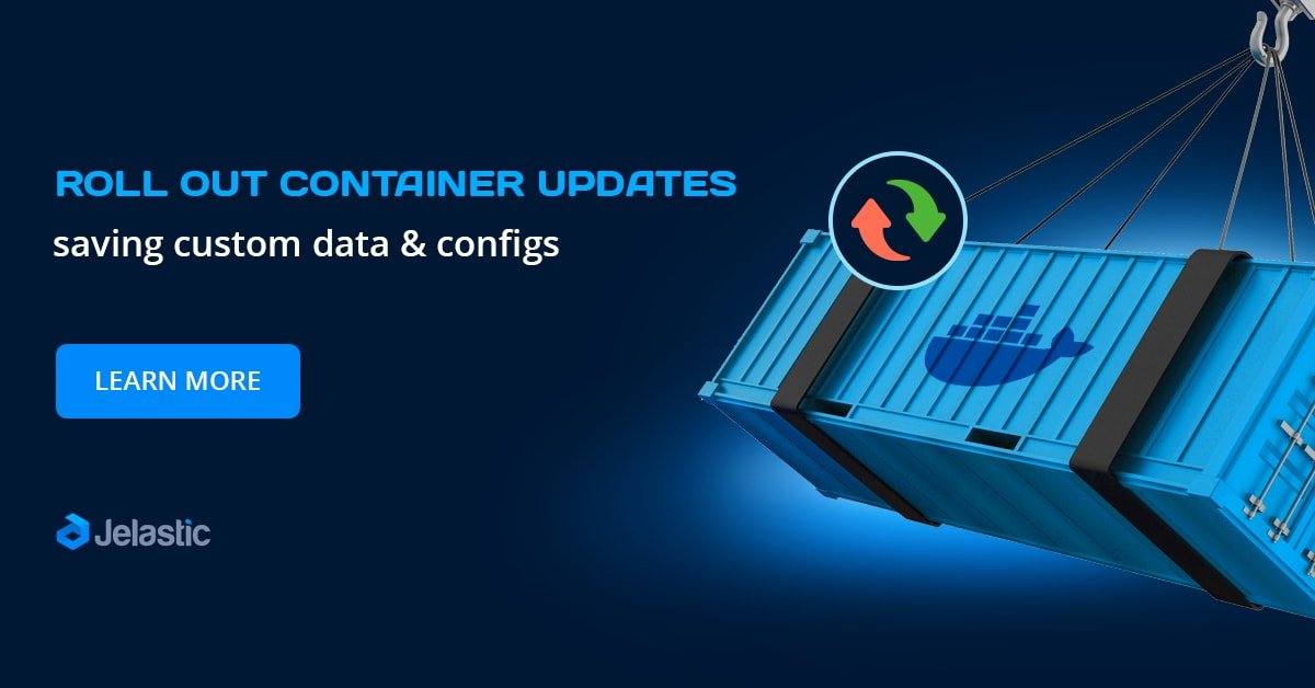 container updates saving data and configs