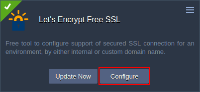 ssl configuration with let's encrypt