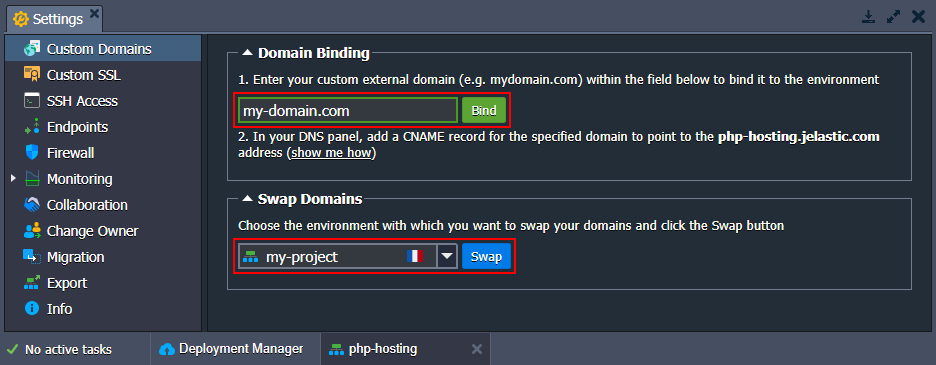 php custom domains