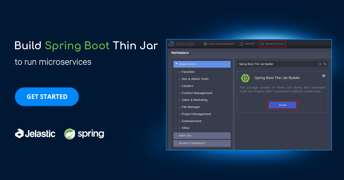 Spring Boot Thin Jar Builder for Running Java Microservices