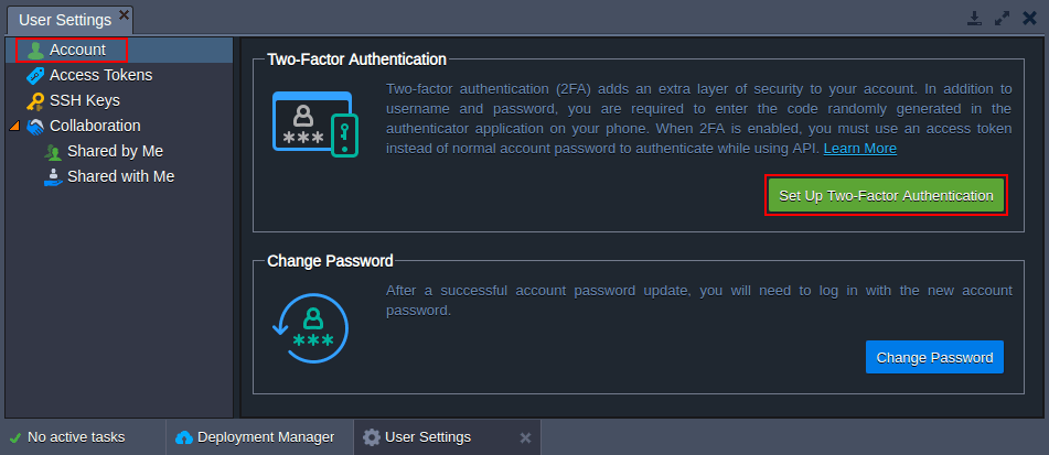 account authentication