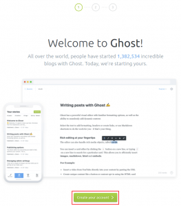 get started with ghost account creation