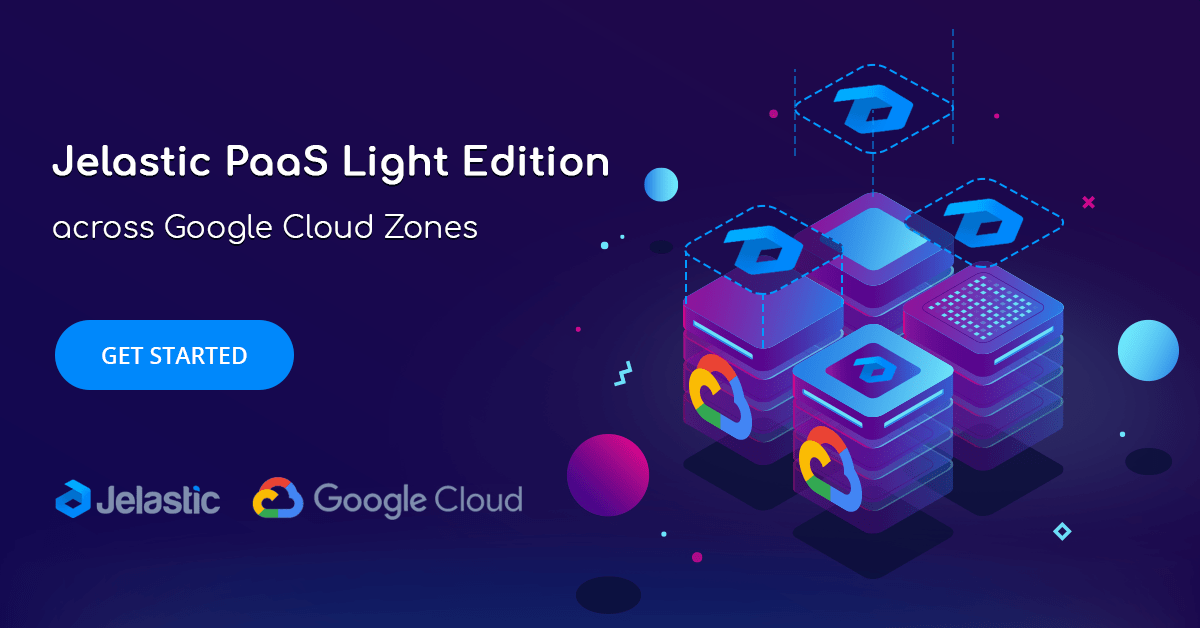 jelastic paas on google cloud zones
