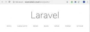 Laravel Default Project Welcome Page