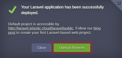 Laravel Successfully Installed