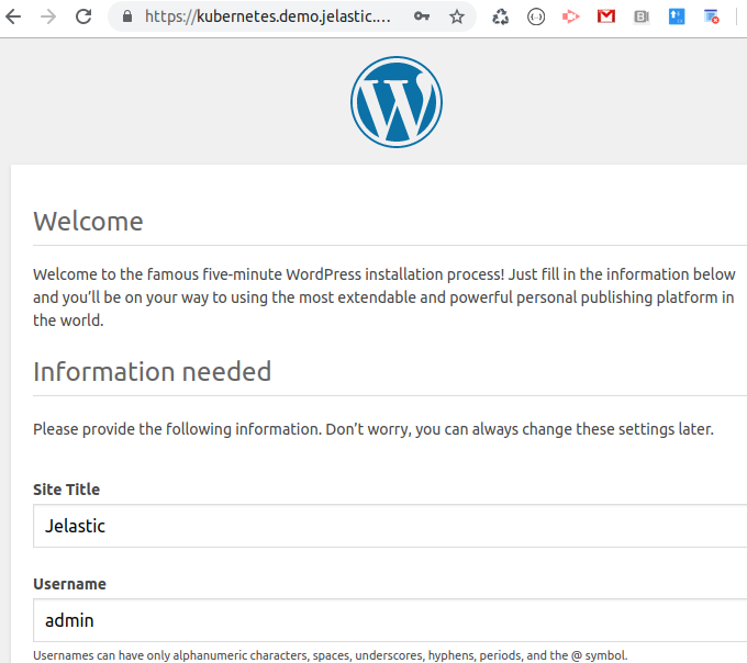 scaling kubernetes welcome wordpress