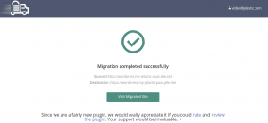 migrate WordPress site completed