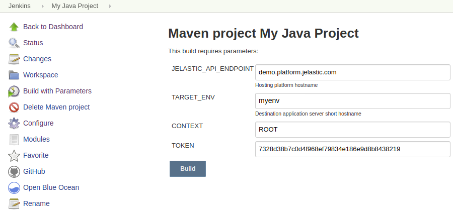 Maven Java Project in Jenkins