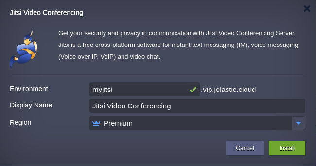 install Jitsi Video Conferencing