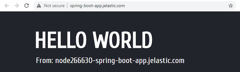 spring boot default site