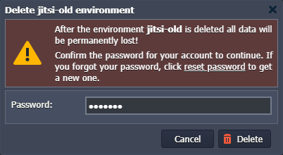 remove old Jitsi environment