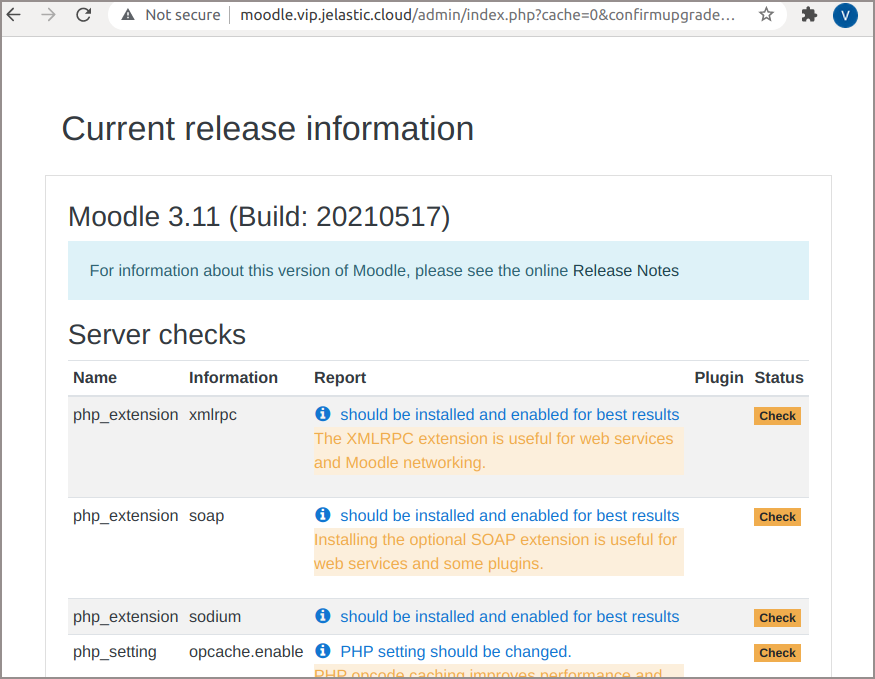Moodle Current Release
